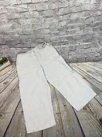 J. Jill Petite Linen Blend Beige Crop Elastic Waist Pants Sz Small Slacks