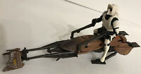 Star Wars 1995 Tonka Kenner POTF Imperial Speeder Bike & Biker Scout Complete