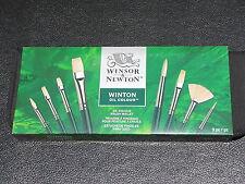 WINSOR & NEWTON WINTON oil colour BRUSH WALLET 9 pieces set  brush NEW