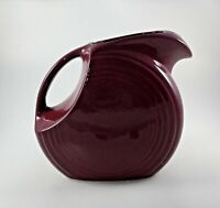 Fiesta Cinnabar Burgundy Maroon Wine Disc Pitcher Large Milk Juice Retired Vtg