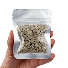 """3"""" x 4"""" Small Reclosable Smell Proof Zip Lock Baggie - 100 Pack (Clear-Silver)"""