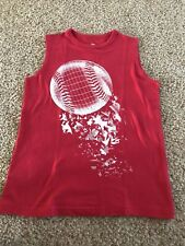 Boys The Childrens Place Red Baseball Cut Off Tank Top Shirt-7/8- Cute!