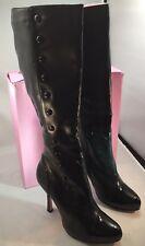 NIB Women's Leg Avenue by Ellie LA420 Buttons Tall Heeled Black Boots Size 9