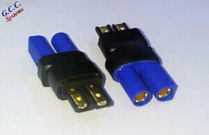 Convert LiPo Traxxas Batteries To EC5 Connectors / ESC - Set of 2 - Brand New