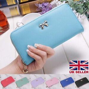 Women Ladies Leather Wallet Long Zip Purse Card Phone Holder Clutch  Handbag