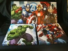 Marvel Avengers 3 Piece Wall Kids Decor FREE SHIPPING