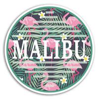 2 x 10cm Malibu California Vinyl Stickers - USA Sticker Laptop Luggage #18951