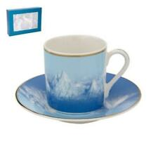 Small Tea,Coffee,Espresso Cup & saucer, set of 6, decorative and Gift Set 3.5 OZ