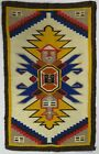 Rare VTG Tribal Native American Aztec Incan Southwestern Virgin Wool Rug 80s 90s