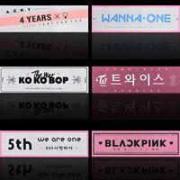 KPOP EXO BTS Bangtan Boys WANNA ONE TWICE BLACKPINK Support Banner 7 Patterns