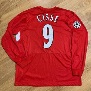 Liverpool 2004/2006 Home Football Shirt Jersey Long Sleeve Cisse #9 Size 2XL