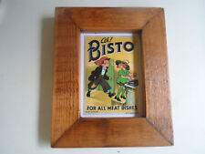 """""""Ah Bisto For All Meat Dishes"""" Modern Repro Wood Framed Small Wall Hanging"""