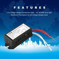 AC 220V to 12V 20-50W Halogen Lamp Electronic Transformer LED Driver UK