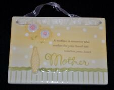 """Mother Mom """"A Mother is"""" Hanging Ceramic Plaque Amscan New"""