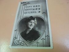 Vintage 1911 Real Photo Postcard Phyllis Dare Stage Star