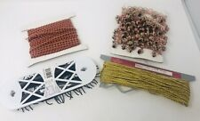 4 Bolts Of Fabric Trim Black Gold Pink Variegated Upholstery Sewing