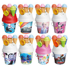 Kids Disney Plastic Beach Bucket Ice Cream Moulds Play Toy Set Sandbox Summer