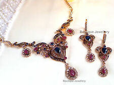 Indian Bollywood Necklace Earrings New  Bridal Fashion Costume Jewelery Set