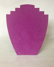 Set of 10 Jewellery Display Card Busts [B] Fuchia Pink Suedette *Made in the UK*