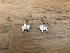 Elephant Earrings Dangle Wire Mexico 925