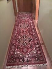 "Stunning Floral 33"" x 126"" Wool Persian Oriental Runner Rug thick warm beautiful"