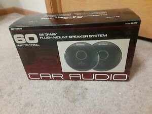 "Optimus 60 Watts 5.25"" 3 Way Car Audio Flush Mount Speaker System 12-1717 VTG"