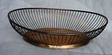"""F. B. Rogers Silver Co. Silverplate Wire Bread Basket, 11"""" Long, Good Condition"""