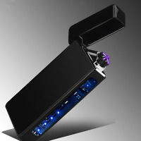 Plasma cigarette lighter USB charging Windproof Double Arc Electronic lighters