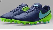 Nike Tiempo Legend V Fg Soccer Cleats Size 8.5 Msrp: $210 819177-443 Blue Green