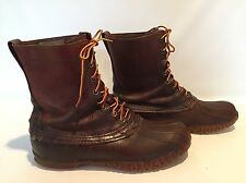 Vintage LL Bean Maine Hunting Shoe Brown Leather Duck Boots Mens Size 11EE 1950s