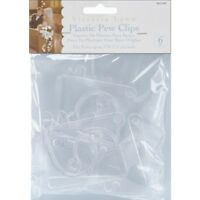 Plastic Pew Clips - Victoria Lynn 6 Pack Clear