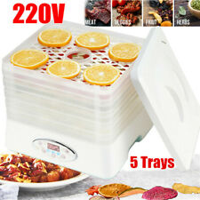 5 Trays Food Dehydrator Fruit Vegetable Meat Beef Dryer Maker Machine 220V