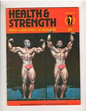 Health and Strength Bodybuilding Muscle Magazine/Sergio Oliva vol 110 1981 G.B.