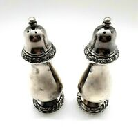 Henley Community Silver Plate Salt & Pepper Shakers 5 Inches Tall Vintage