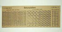 208 Betonplatten Wegeplatten Fahrwegplatten Betonstrasse Lasercut Spur N L18