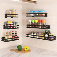 Kitchen Shelves Metal Spice Rack Seasoning Rack Closet Organizer Storage Shelf