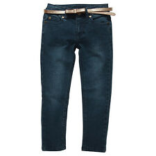 Girls New With Tags Denim Stretch Pants/Jeans with Gold Sparkle Belt-Size1-5