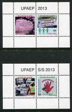 Surinam 2013 UPAEP Anti-Rassismus Gegen Diskriminierung Block 116-117 MNH