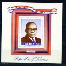 Liberia President Dictator William Tubman Souvenir Sheet 1988 MNH