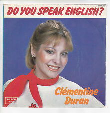 "DURAN Clementine 45 tours Vinyl SP 7"" DO YOU SPEAK ENGLISH ? BE BOP MUSIC 990060"