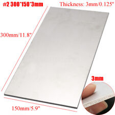 "12 x 6 x 0 .125"" 3mm Thick Silver Industrial Titanium 6AL4V Metal Plate Sheet"