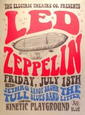 """Led Zeppelin 13"""" X 19"""" Reproduction Concert Poster archival quality 001"""