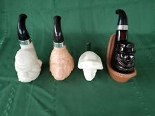 Lot of 4Avon Pipe Decanters Pipe, Bull Dog Pipe Dream Blood Hound Pony Express