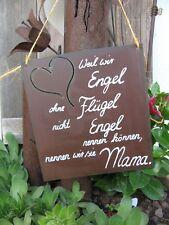 """Spruchtafel - Edel-Rost -Tafel - Schild - """"Weil wir Engel ohne Flügel .."""" (6)"""