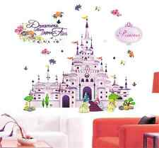 Dreamers Have More Fun Princess Children Cinderella Girl Wall Sticker Decals UK