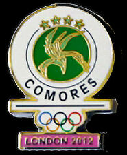 LONDON 2012 Olympic Comores ( Comoros ) NOC  team - delegation RARE DATED pin