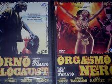 2 DVD Joe D'Amato Porn0 holocaust dvd+Orgasmo nero dvd originali STORM SIGILLATI