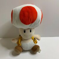 "Super Mario Bros. Wii Plush Red Toad Soft Toy Stuffed Teddy Doll 11"" Offical."