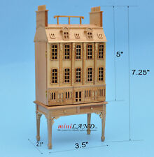 Townhouse DOLLHOUSE FOR DOLLHOUSE +TABLE Pine1:144 wood Top quality GO