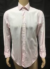 (Used) Mens Polo By Ralph Lauren Long Sleeve Button Front Shirt Size: M *flaw*